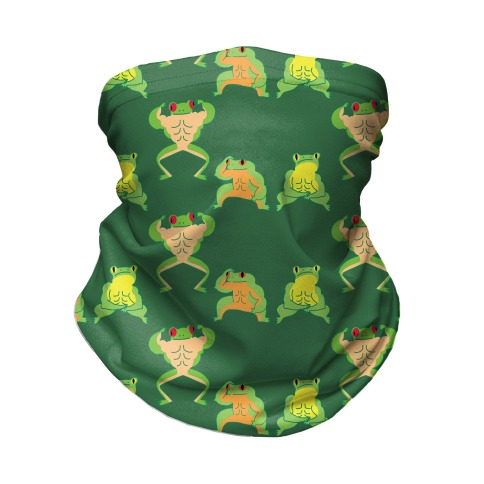 Buff Frog Pattern Neck Gaiter