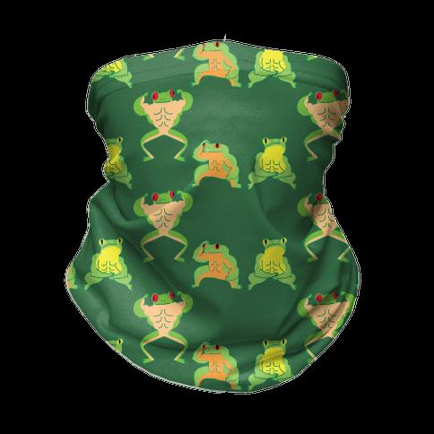 Buff Frog Pattern Neck Gaiter