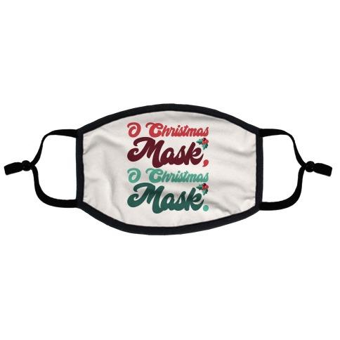 O Christmas Mask O Christmas Mask Flat Face Mask