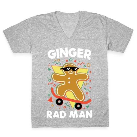 Ginger Rad Man V-Neck Tee Shirt