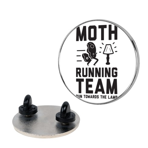 Moth Running Team Pin
