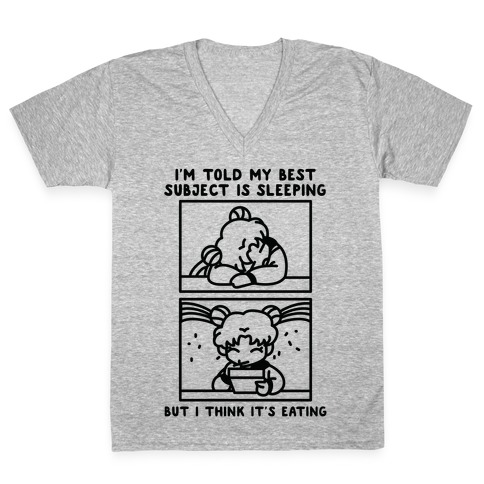 My Best Subject is Sleeping V-Neck Tee Shirt