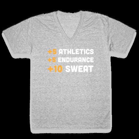 +10 Sweat V-Neck Tee Shirt