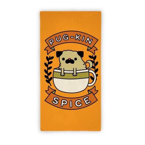 Pugkin Spice Beach Towel