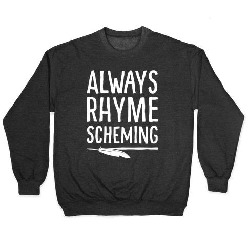 Always Rhyme Scheming White Print Pullover