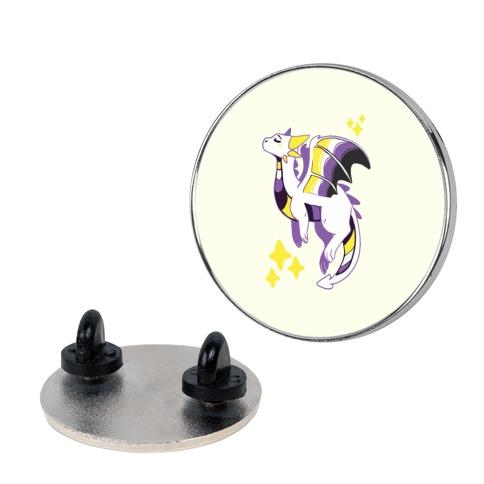 Non-Binary Pride Dragon Pin
