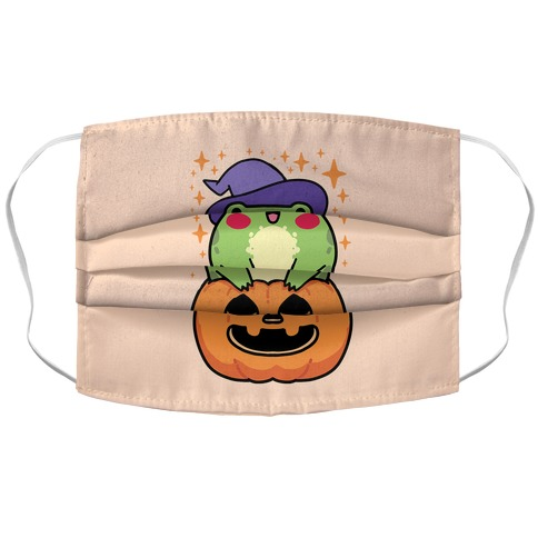 Cute Halloween Frog Accordion Face Mask