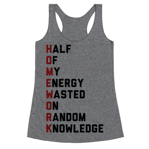 Homework Racerback Tank Top
