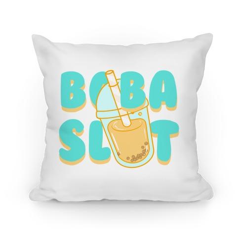 Boba Slut (blue) Pillow