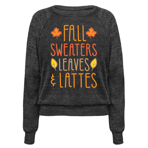 Fall Sweaters Leaves & Lattes (White)