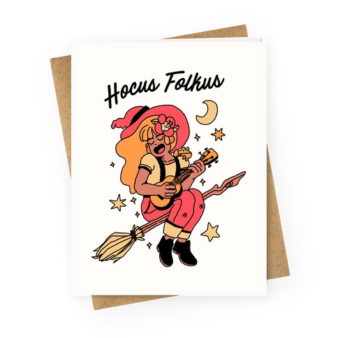 Hocus Folkus Greeting Card