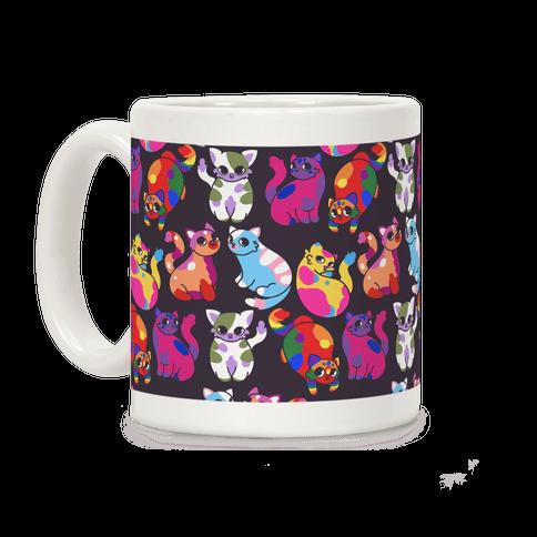 Cartoon Pride Cats Pattern Coffee Mug