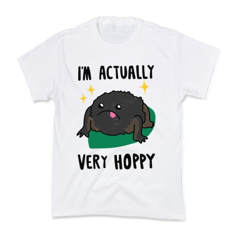 I'm Actually Very Hoppy Kids T-Shirt