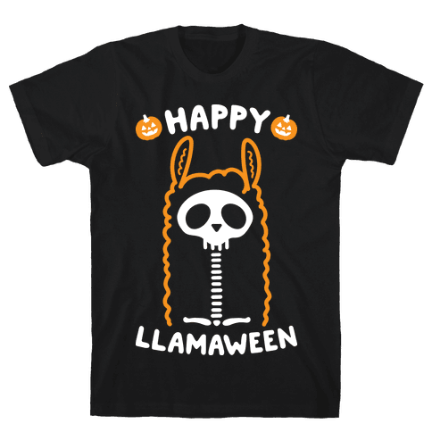 Happy Llamaween Mens T-Shirt
