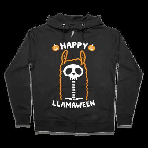 Happy Llamaween Zip Hoodie