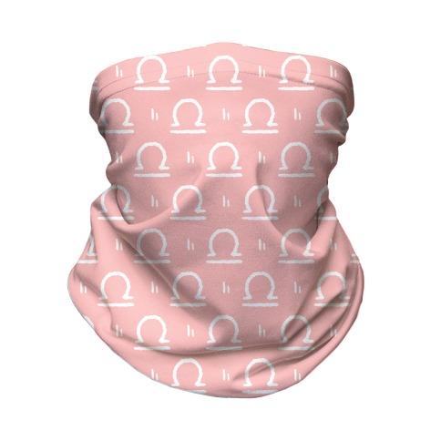 Libra Symbol Pattern Pink Neck Gaiter