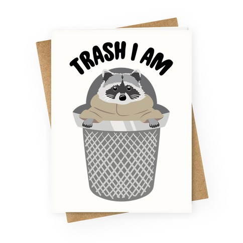 Trash I Am Raccoon Baby Yoda Parody Greeting Card