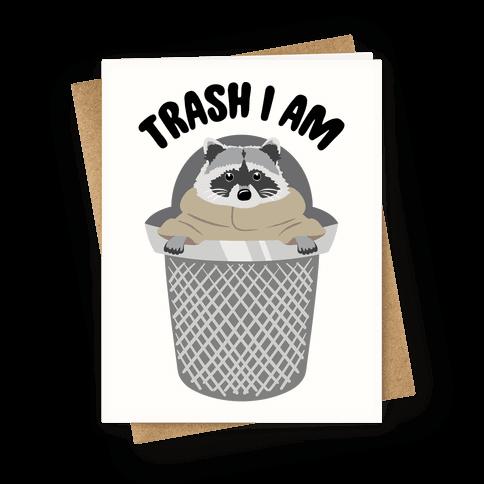 Trash I Am Raccoon Baby Yoda Parody Greeting Card