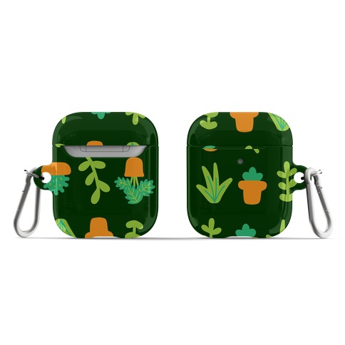 Graphic Plants Pattern AirPod Case