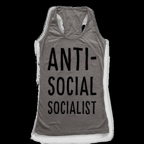 Anti-Social Socialist Racerback Tank Top