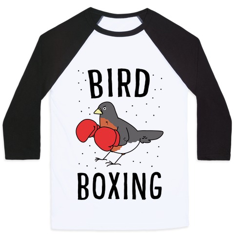 Bird Boxing Baseball Tee