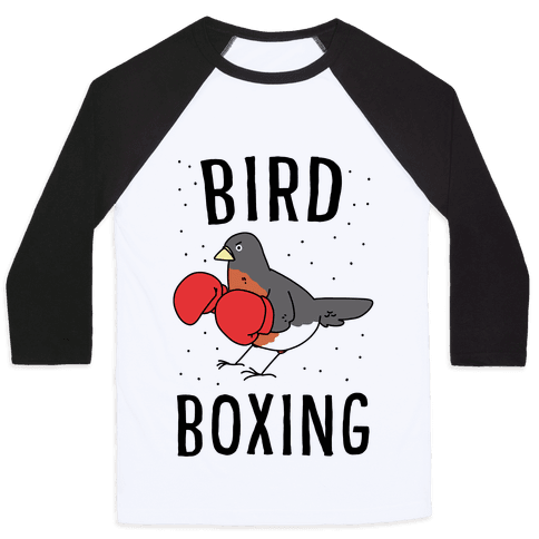 Bird Boxing Baseball Tee