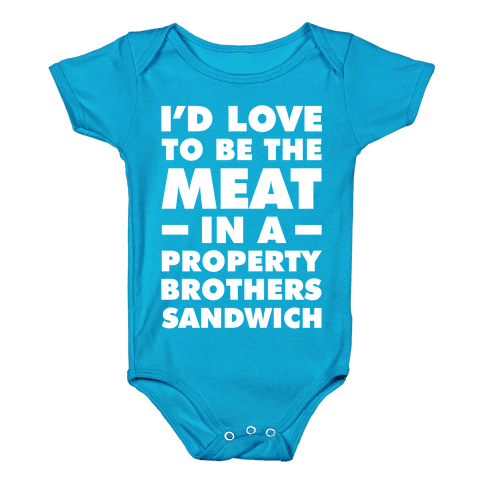 Property Brothers Sandwich Baby Onesy