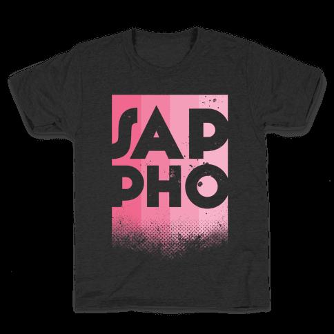 Vintage Sappho Pink Kids T-Shirt