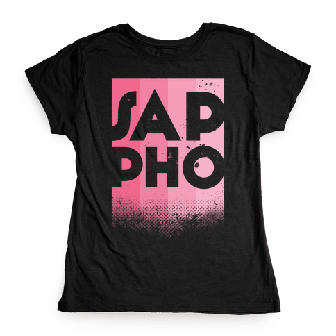 Vintage Sappho Pink Womens T-Shirt