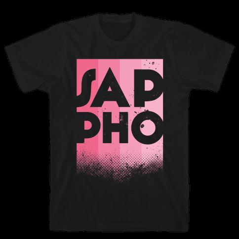 Vintage Sappho Pink Mens T-Shirt