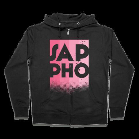 Vintage Sappho Pink Zip Hoodie