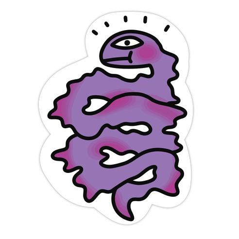 Shakey Snakey Die Cut Sticker