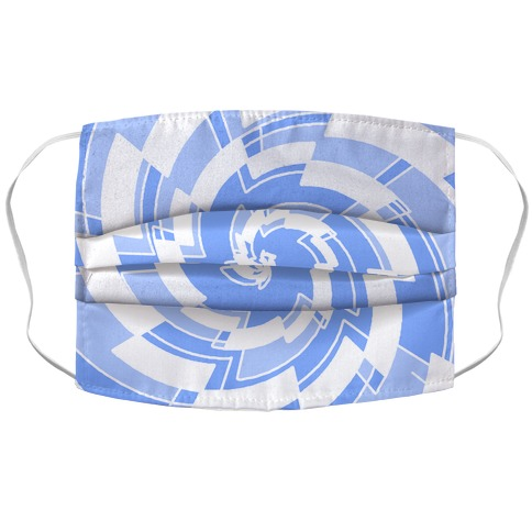 Abstract Saw Pattern Accordion Face Mask