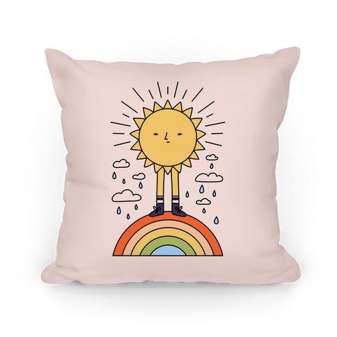 Solar Power Rainbow Pillow