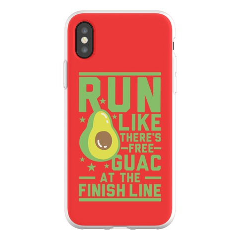 Run Like There's Free Guac Phone Flexi-Case