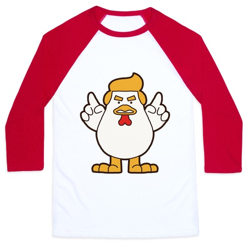 Kawaii Trump Chicken Baseball Tee