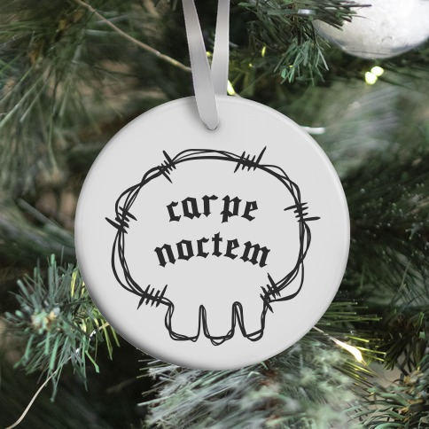 Carpe Noctem (white)  Ornament