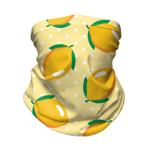 Whole Lemon Pattern Neck Gaiter