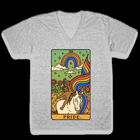 Pride Tarot V-Neck Tee Shirt