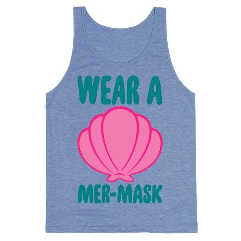 Wear A Mer-Mask White Print Tank Top