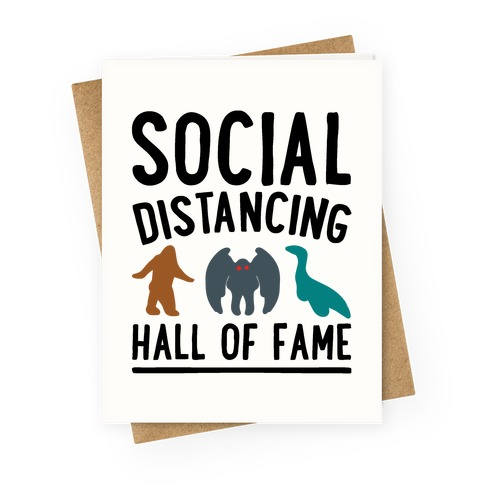Social Distancing Hall of Fame Greeting Card