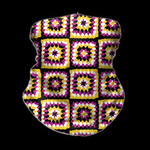 Granny Squares Pattern (Nonbinary Pride) Neck Gaiter