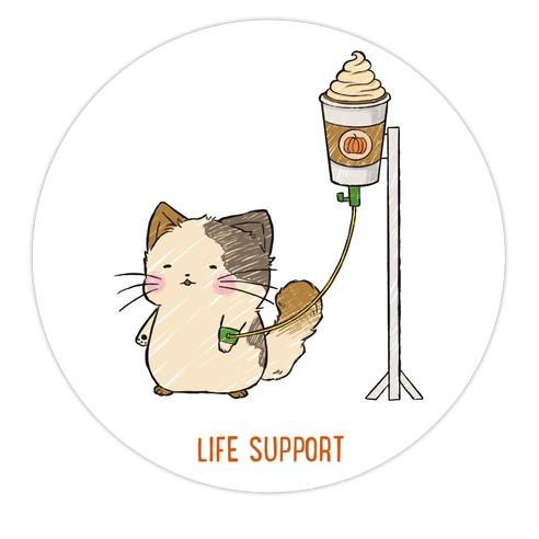 Life Support Die Cut Sticker