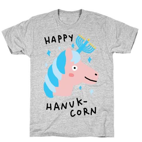 Happy Hanuk-Corn Unicorn T-Shirt