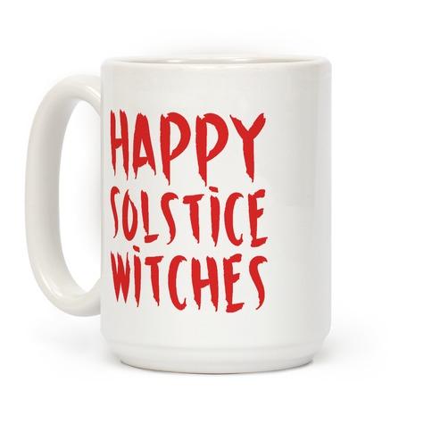 Happy Solstice Witches Parody Coffee Mug