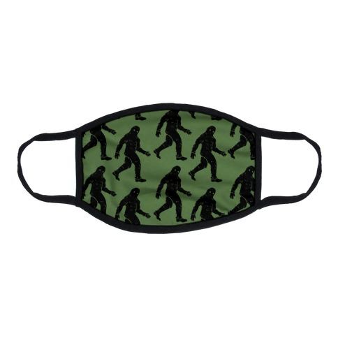 Big Foot Pattern Green Flat Face Mask
