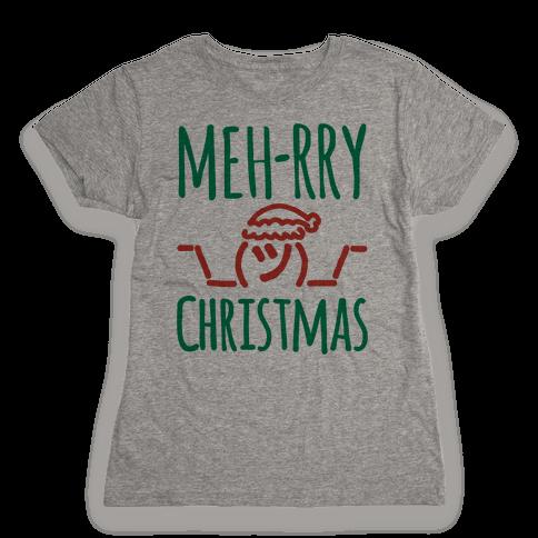 Meh-rry Christmas Parody Womens T-Shirt