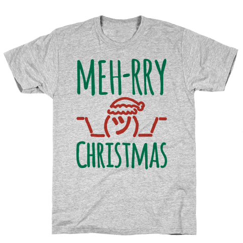 Meh-rry Christmas Parody Mens T-Shirt