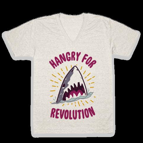 Hangry For Revolution V-Neck Tee Shirt
