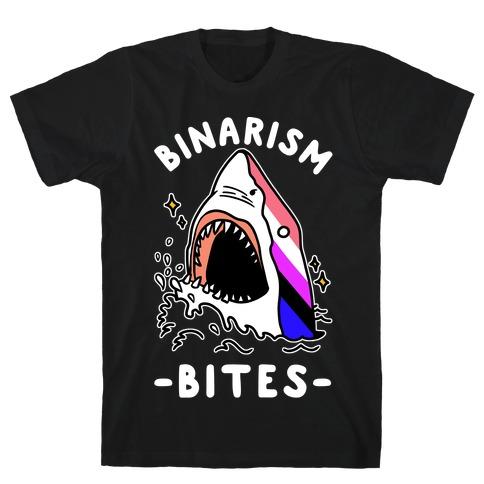 Binarism Bites Genderfluid T-Shirt